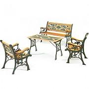 주물 직사각 의자 탁자Set