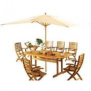 타원형 원목 의자 탁자Set